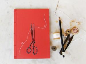 """Χειροποίητο japanese notebook """"ψαλίδι"""""""