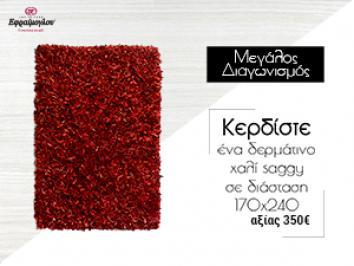 Διαγωνισμός efremoglou.gr με δώρο ένα πανέμορφο δερμάτινο χαλί saggy σε διάσταση 170x240