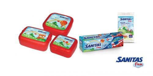 Διαγωνισμός με δώρο μια ολοκληρωμένη σειρά προϊόντων SANITAS Fun για τρεις νικητές