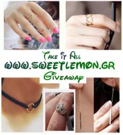 Διαγωνισμός με δώρο 1 διπλό δαχτυλίδι 2 δαχτυλίδια one size 1 τσόκερ για τον λαιμό 1 ζευγάρι σκουλαρίκια