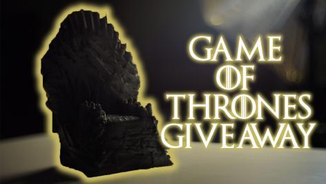 Διαγωνισμός με δώρο 1 3D printed Iron throne του Game of Thrones