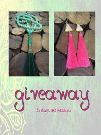 Διαγωνισμός με δώρο 1 ζευγάρι σκουλαρίκια χειροποίητα boho 1 κρεμαστό yoga mala 108 beads