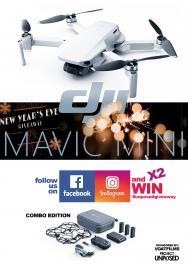 Διαγωνισμός με δώρο 2 drones αξίας 500 ευρώ το ένα, DJI Mavic Mini Combo Edition ταυτόχρονα για δύο τυχερούς σε Facebook και Instagram.