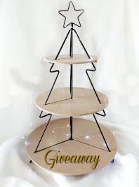 Διαγωνισμός για μία εταζέρα ξύλινη, Christmas tree, 3 επιπέδων ύψους 58 cm