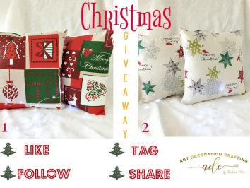 Διαγωνισμός για σετ χριστουγεννιάτικες διακοσμητικές θήκες μαξιλαριών σε 2 νικητές