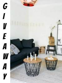 Διαγωνισμός instagram.com/karidotsouflo.gr με δώρο ένα σετ μεταλλικών τραπεζιών σε μαύρο χρώμα με ξύλινη επιφάνεια σε φυσικό χρώμα