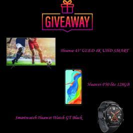 Διαγωνισμός για τηλεόραση Hisense 43, Huawei P30 lite 128GB, Smartwatch Huawei Watch GT Black