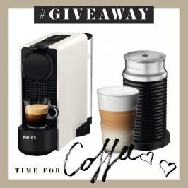 Διαγωνισμός με δώρο krups Nespresso Essenza - Mini Καφετιέρα Λευκή με Aeroccino και κουπόνι αξίας 30€ για κάψουλες Nespresso