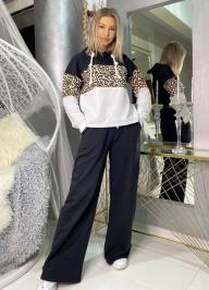 Διαγωνισμός με δώρο μαύρο set φούτερ φόρμα με animal print λεπτομέρεια, ένα δώρο αξίας 49,90€