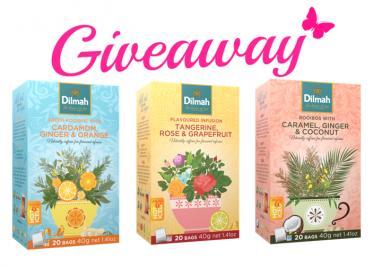 Διαγωνισμός για 1) Cardamom, Ginger & Orange 2)Tangerine, Rose & Grapefruit και 3)Caramel, Ginger & Coconut της Dilmah.